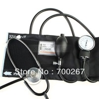 Blood Pressure Cuff Stethoscope Sphygmomanometer Kit free shipping