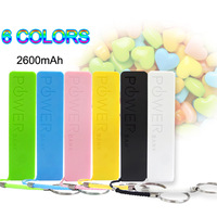Universal Portable Mobile Phone 2600mAh Power Bank USB 18650 Battery Charger Key Chain for iPod iPhone 4 4s 5 5S 5C galaxy s3 s4