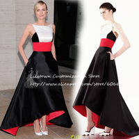 Custom Made Diane Kruger Metropolitan Opera Season A-Line Formal Gowns Satin Celebrity Dresses New Arrival Free Shipping