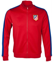2014 Atletico Madrid Red Winter Soccer Jacket Coat 13/14 Football Soccer jacket Men Outerwear Long sleeve TOP Thailand quality