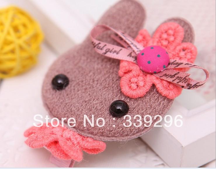 super cute rabbit hairpins woven handmade hair clips girls korean style hair accessories wholesale 10pcs/lot free shipping(China (Mainland))