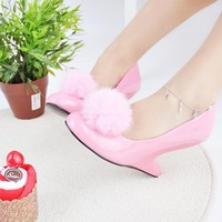 Allotypy women's hiphop with sweet yoona 's high-heeled single shoes small yards customize 30 31 32 33 low-top shoes
