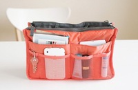 Wholesale Bag in Bag Dual Zipper Insert Multi-function Handbag Makeup Travel Organizers Pockets