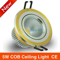 6X/lot NEW!! High Quality LED Spotlight Ceiling Downlight COB light  5W  FREE SHIPPING
