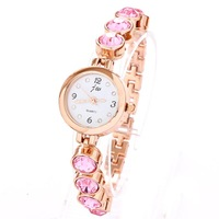 Free shippingWatch Crystal Rhinestone Dropship Fashion Charm Style Rose Gold Plated Bracelet Watches For Women Ladies Hot sale