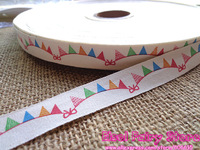 Retro Zakka Colorful Banner Design Cotton Ribbon Sewing tape 15mm x30m - Free shipping