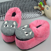 Three-dimensional cartoon winter home slippers at home thermal cotton-padded slippers cartoon toilet all-inclusive slippers