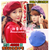 2013 winter beret painter cap bucolics hat pure sheep knitted hat women's