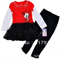 2013 children kids girls princess dress christmas minnie mouse costume baby brand dress cartoon dress wholesale free shipping