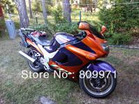 HOT Motorcycle Fairing kit for KAWASAKI ZZR1100 93 01 02 03 ZZR1100 1993 2001 2003 ZZR1100D ZX11 orange blue Fairings set KU12