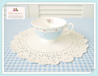 Lace paper cake cutout flower pad decoration oil on paper measurement 30