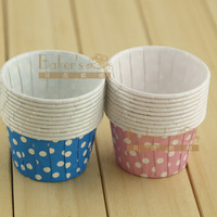 White dot pattern cake cups heatresisting horse cup 10
