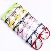Free Shipping Non-Mainstream Big Glasses Frame Vintage leopard Eyewear belt plain glass lens eyeglasses frame For Women Men GL03