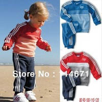 Free Shipping(5 sets/lot) 2013 Baby Branded Set (Sweater+Pants) Children's Long Sleeve Set ,Kids Brand set / Children Sportsuit