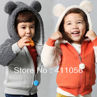 2013 autumn and winter style boys clothing girls clothing baby child with a hood outerwear wt-1413