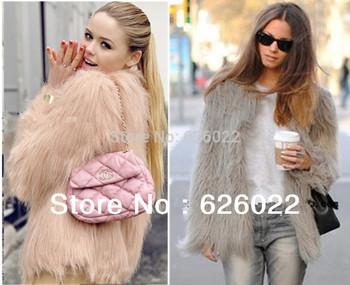 Super quality ~ Женщины's Faux Мех jacket Coat 4 дюймes Длинный Hairy Длинный ...