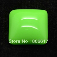 Free Shipping 10 Pcs Green Resin Square Flatback Cabochon Scrapbook Embellishment DIY Phone Decoration 27x27mm(W02594)