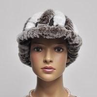 13 winter short brim hat rex rabbit hair flower hat brim two-color woven fur hat