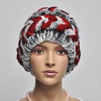 13 toe cap covering cap rabbit fur ear protector cap fur knitted flower hat