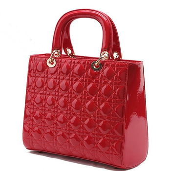 New stereotypes Quilted handbag patent leather handbag
