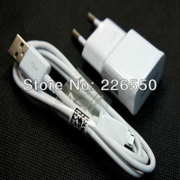 20pcs/lot, Original 2A EU Plug Wall Charger + MICRO USB Cable For Samsung Galaxy S4 I9500/Galaxy S3 I9300 Galaxy Note2 7100