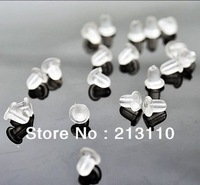 Fashion Earring Back,Earrings plugs,Clear Rubber Bullet Clutch Earring Safety Backs +free shipping