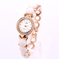 Free shippingWatch Chain Bracelet Charm Watches Wholesale Fashion Style Casual Rose Gold Plated Rhinestone Hot sale