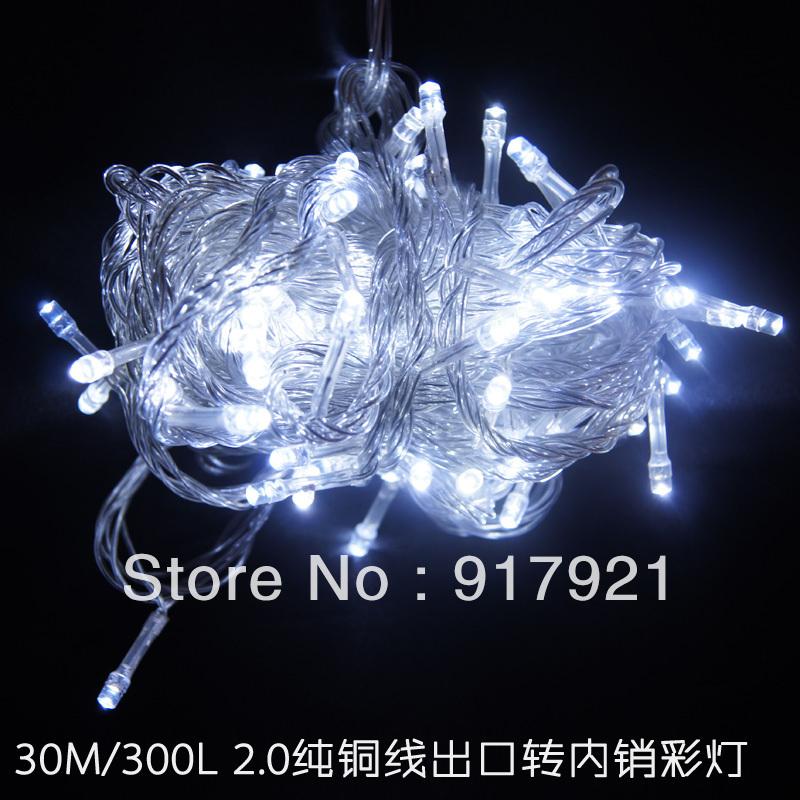 Lighting string 30 meters 300 lamp white outdoor waterproof string light flasher lamp Holiday lighting(China (Mainland))