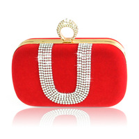 Promotion womens fashion designer crystal clutch evening shoulder bags purses 2013 small chain handbags diamond