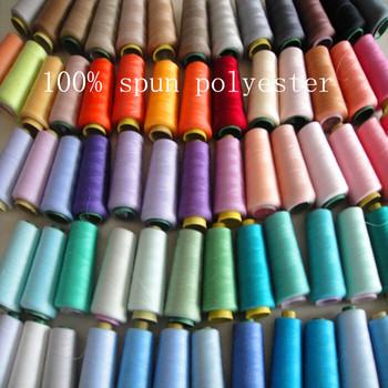 Бесплатная доставка швейных ниток из волос ткачество 1 шт./лот 100% закрученная полиэстер высокой интенсивности нейлоновые темы 500 цвет для выбора