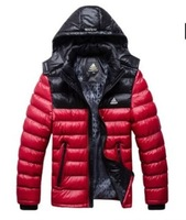 2013 New Autumn / Winter Male stand collar general removable hat wadded jackets men's leisure cotton coat 3 Colors Size  L--XXXL