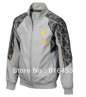 Hot   Sell   New style  Liverpool   gray  13/14  Best  THAILAND  Quality   Soccer   Jacket