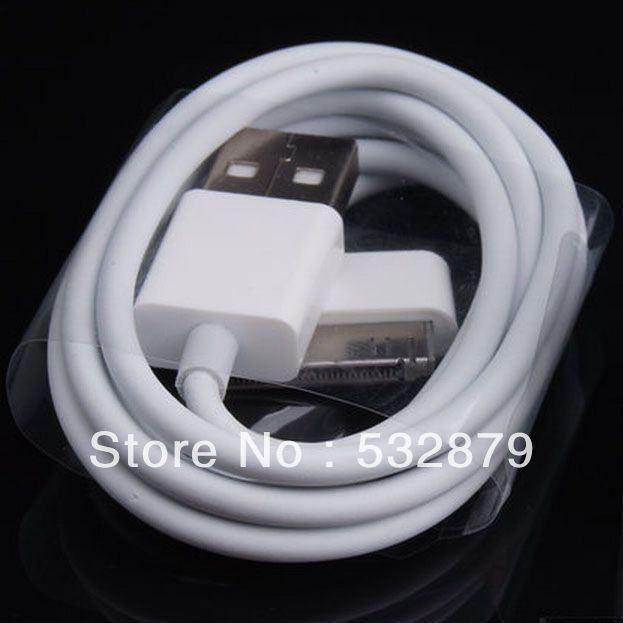 Free shipping White USB Computer/PC/Laptop Charger Cable Charger Cord Power For iPhone4 iPhone4S iPhone3 iPhone3GS iPhone3GB(China (Mainland))