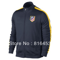 Sales promotion   New style   Atletico Madrid  Black    2013/14  ronaldo Best  THAILAND  Quality   Soccer Jacket