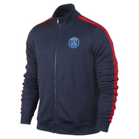 A+++ PSG Top N98 Thailand Quality Sports Outdoor Wear Paris St German 2014 Blue Soccer Kit Training Jacket Football Coat