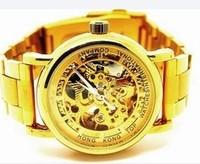 Reloj wristwatches relogio luxury brand cassio Cutout fineat masculino transparent automatic mechanical watch gold strip male