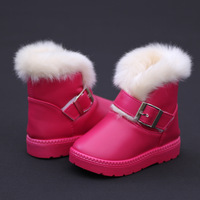 Winter new arrival child snow boots male female child warm boots waterproof boots thickening PU
