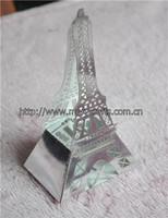 innovative design! laser cut party supply art craft silver eiffel tower gift box wedding centerpieces