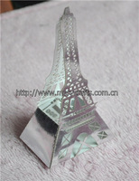 innovative design! laser cut party supply art craft silver eiffel tower gift box wedding centerpieces