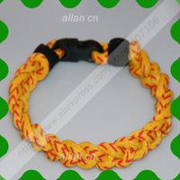 Wholesale 900pcs Germanium & titanium 3 ropes tornado braided titanium sports bracelet 18- 22CM