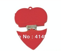 wholesale 1pcs/lot usb 2.0 flash drives memory stick memory stick pen drive heart full capacity thumb drive wedding gift