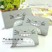 Women Wallet Women's Wallet Card Package Purse Cartoon stereo sewing thread wallet totoro long and short women's wallet