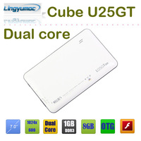 Freeshipping cheap dual core tablets Cube U25GT dual core 7 inch RK3168 android 4.1 1024x600