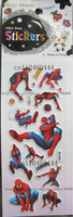 VFree Shipping ! 20 Sheets Spider-Man Me Kids Child Children Stickers Popular Cartoon Sticker Wholesale/ Kids DIY Toy/ SF-045