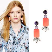 2013 New Fashion accessories square elegant stud earring