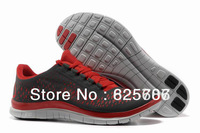 Free Shipping Free 3.0 V4 Men's Running Sport Footwear Sneaker Trainers Shoes - Dark Grey / Red / White