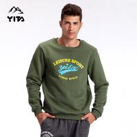 Autumn men's outside sport fleece clothing windproof thermal ball o-neck thermal sweatshirt