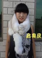 Fur fox scarf muffler scarf cape arctic fox white genuine leather women's muffler scarf real fur winter