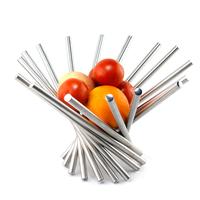Stainless steel fruit plate fashion rotating fruit basket personalized da vinci fruit bowl