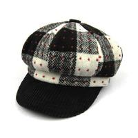 Patchwork baseball cap color block decoration 100% cotton polka dot octagonal cap fashion women's cap casual thermal